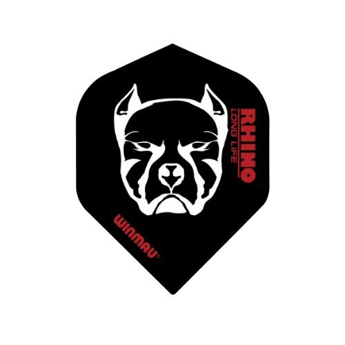 Winmau Rhino Long Life Standard Extra Thick Dart Flights (3 Sets of 3 - 9 Flights) (Bulldog (Black)) (Bulldog Dart Board compare prices)