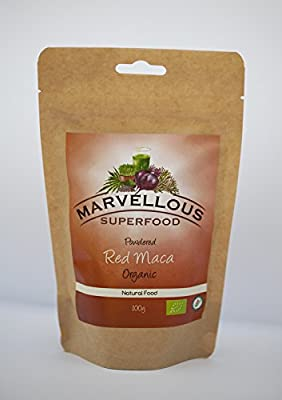 Organic Red Maca Powder High Quality Pure Peruvian Maca Powder Hormone Balancing 500 Grams from Marvellous Superfood