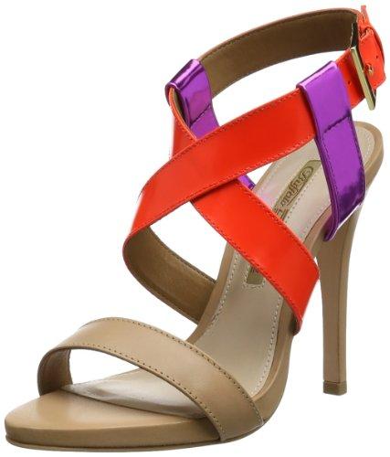 Buffalo London 21935-1036 BOX SHINE MIROR SEMI, Scarpe con cinturino alla caviglia donna, Multicolore (Mehrfarbig (CORAL 19)), 40