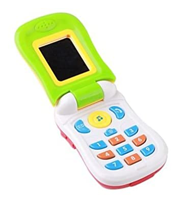 Kids Musical Cell Phone Toy. Touch, sight and sound technology. Made from Eco Friendly Materials. Child safe.