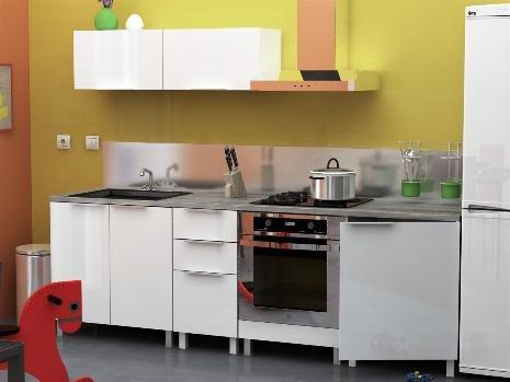 TMT - Cocina completa, 240 cm, diseño laqueado, color blanco