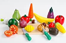 buy The Children'S Favorite Simulation Fruits And Vegetables Toy !Children Play Wooden Toys!Made Of High Quality Solid Wood,Colorful B42-01-02