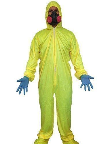 Costume Breaking Bad tuta gialla materiale pericoloso maschera anti gas chimico Walter White