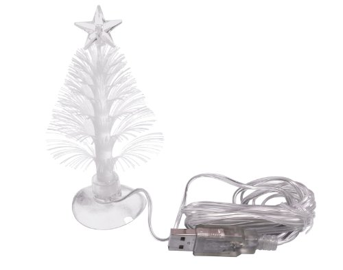 Usb Powered Miniature Christmas Tree W/ Multicolor Leds