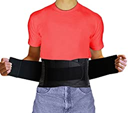 AidBrace Back Brace Support Belt - #1 Breathable Industrial Strength Lumbar Posture Support Belt - Relieves Lower Back Pain Naturally for Men and Women (M)