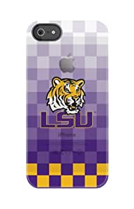 Uncommon LLC C0500-GV Louisiana State University Pixel Stripe Frosted Deflector Hard Case for iPhone 5/5S - Retail Packaging - Purple/Gold/White