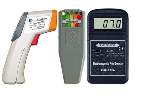 EMF Meter 822A-ST IR Thermometer & KII Delux The Most Popular Instruments For Any Paranormal Investigator/Ghost Hunter