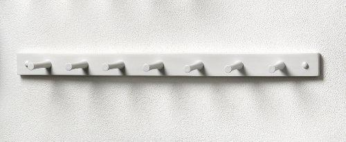 Spectrum 82200 Seven-Peg Wood Rack, White