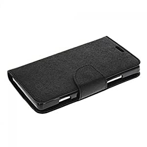 Aart Fancy Diary Card Wallet Flip Case Back Cover For Lenovo A2010 -(Black) + USB Bracelet Cable with Charging and Sync for all smart phones by Aart Store.