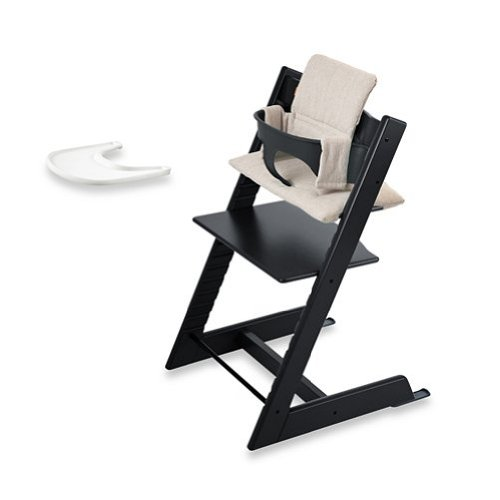 Stokke Tripp Trapp Baby High Chair Complete Bundle In Black Set front-954207