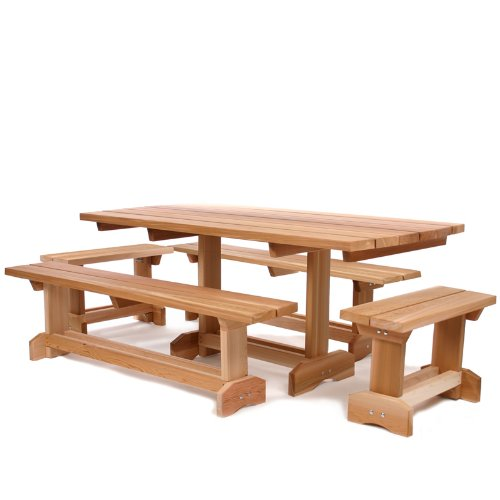 Remarkable Cedar Picnic Table Outdoor Patio Set 10 Person Find Best Creativecarmelina Interior Chair Design Creativecarmelinacom