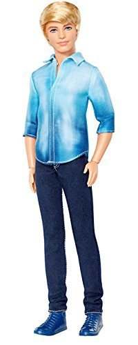 Barbie Fashionista Ken Doll with Blue Shirt and Black Pants