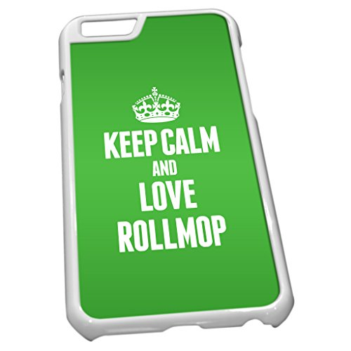 Blanc Coque pour iPhone 6 1463 Vert Keep Calm and Love rollmop