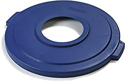 Carlisle 341033REC14 Bronco LLDPE Recycle Lid with Hole, 24-1/4 x 2.13\