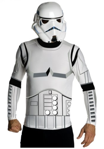 Rubies Mens Top Mask Star Wars Stormtrooper Theme Party Fancy Costume