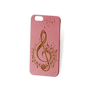 Custom Engraved Music 2 Pink Wood Case For iPhone 6/6s and iPhone 6 Plus/6s Plus ( iPhone 6 Plus/6s Plus)