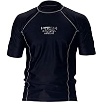 Hyperflex Loose Fit Short Sleeve Rash Guard, X-Large, Black