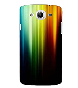 PrintDhaba Rainbow Colours D-2276 Back Case Cover for SAMSUNG GALAXY MEGA 5.8 (Multi-Coloured)