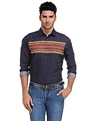 Edjoe Men's Printed Slim Fit Casual/Party Wear Shirt