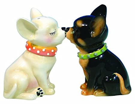 Magnetic Chihuahuas Salt and Pepper Shaker Set