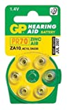 GP Batteries GPZA10-D6 PR70 Zinc Air Hearing Aid Battery (Pack of 6)