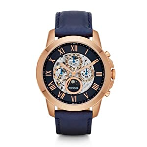 Fossil Men's ME3029 Grant Analog Display Automatic Self Wind Blue Watch