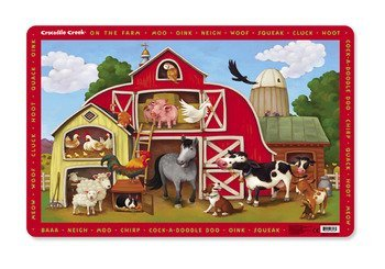 Crocodile Creek On The Farm Placemat