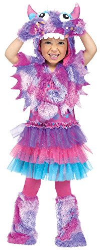 Fun World Costumes Baby Girl'S Polka Dot Monster Toddler Costume, Pink/Blue, Large