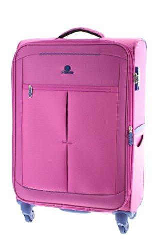 Pianeta Trolley baule valigia, trolley da viaggio bagaglio per il viaggio morbido (rosa L)