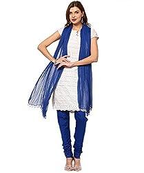MemSahiba Women Plain Cotton Chudidaar Dupatta Combo (MS-1371_Blue)