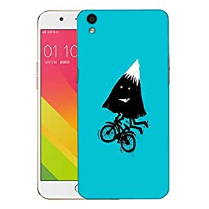 Snoogg Mountain Riding Cycle Designer Protective Back Case Cover For OPPO F1 PLUS
