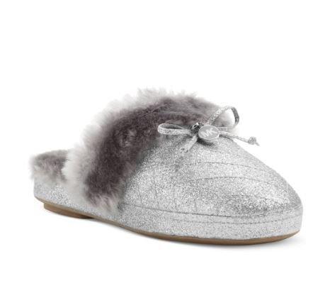 Michael Kors Carter Slipper Womens Size 7 Silver Slipper Shoes