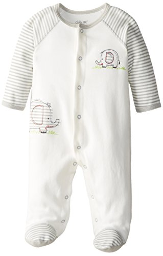 Little Me Baby Boy Newborn Elephant Footie, Ivory Multi, 3 Months front-12342