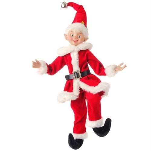 RAZ 16″ Posable Elf w/ Santa Suit – 1/pc