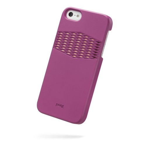 Best Price The Pong Case for iPhone 5, Berry Pink with Gold Reveal