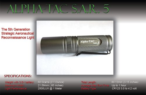Extremebeam S.A.R.5 For Extreme Duty Service High-Output Precision Led Tactical Flashlight (2,500 Lux)