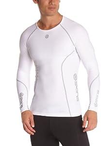 Skins Herren Mens Top Long Sleeved A200, White, XS, B60005005XS
