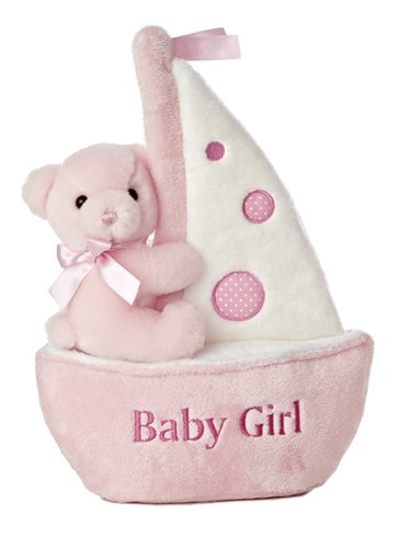 "Aurora World Comfy Sailboat Baby Girl Musical 12"" Plush - 1"