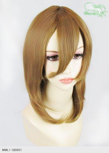 スキップウィッグ 魅せる シャープ 小顔に特化したコスプレアレンジウィッグ フェザーミディ カプチーノ