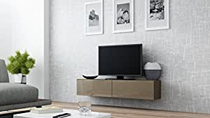 """Amazon.com: Seattle 65"""" NEW TV Stand - High Gloss TV Stand / Media"""