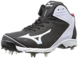 Mizuno Usa Mens Men\'s 9-Spike ADV Swagger2 Mid Baseball Cleat,Black/White,11 D US