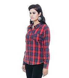 Instinct Women's Shirt (ET50907RG_Red Grey_Small)