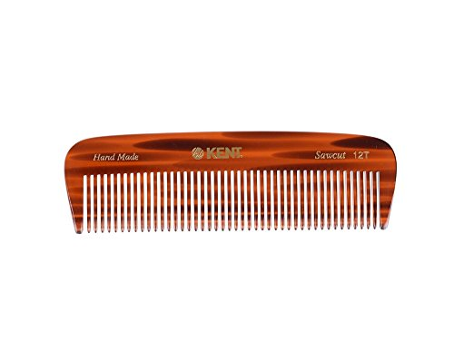 Kent - The Handmade Comb - 146 mm Medium Size for Thick/Coarse Hair Sawcut 12T