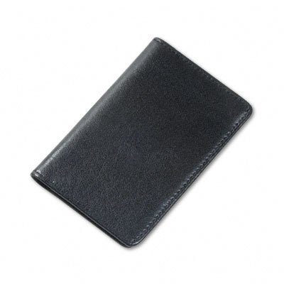 Samsill Regal Leather Business Card Wallet, Holds 25 Cards of 2 x 3.5 Inches, Black (81220)