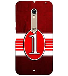 PrintDhaba NUMBER ONE D-6796 Back Case Cover for MOTOROLA MOTO X PURE EDITION (Multi-Coloured)