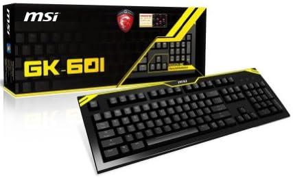 MSI GK-601マクロ付ゲーミングキーボード チェリー赤軸搭載Nキーロールオーバー対応(全キー)マルチメディアキー搭載ヘッドフォン入出力装備 日本正規代理店品 KB256 GK-601JP