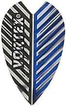 5 Sets of 3 Dart Flights - 9005 - Vortex Black and Blue Flights Lg