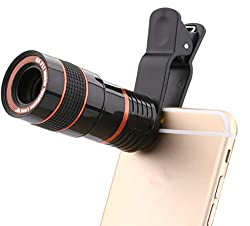 3Keys 8X Zoom Telescope Universal Camera Lens for All Mobile Phones / Tablets