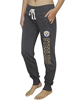 NFL Womens Pittsburgh Steelers Athletic Cuffed Track Pants (Vintage Look)