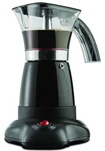 Brentwood Electric 6 Cup Moka Espresso Maker in Black - 6.5